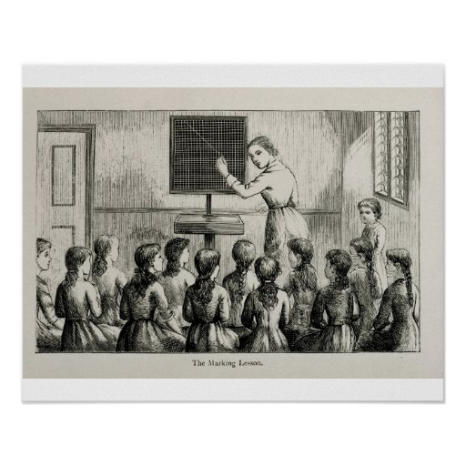 'The Marking Lesson', illustration from 'A Manual Print