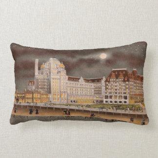 The Marlborough-Blenheim Hotel at Night Lumbar Pillow