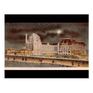 The Marlborough-Blenheim Hotel at Night Postcard