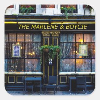 The Marlene and Boycie Square Sticker