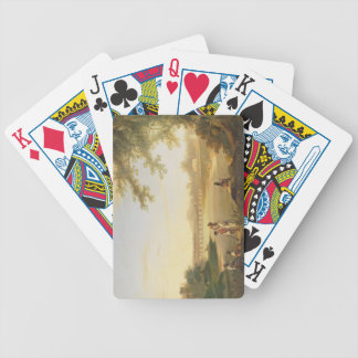 The Marmalong Bridge, with a Sepoy and Natives in Bicycle Playing Cards