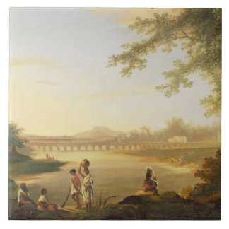 The Marmalong Bridge, with a Sepoy and Natives in Tile