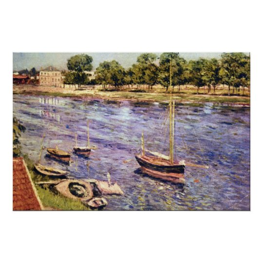 The Marne by Gustave Caillebotte Poster