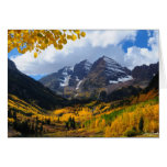 The Maroon Bells in Autumn Gold Card