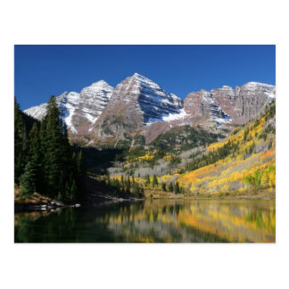 The Maroon Bells in the fall Postcards