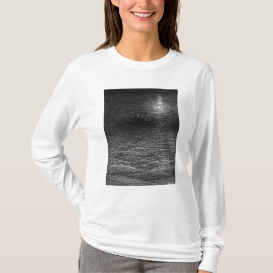 The marooned ship in a moonlit sea T-Shirt