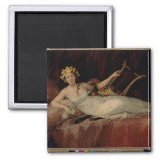 The Marquesa de Santa Cruz, 1805 (oil on canvas) Magnet