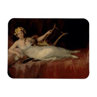 The Marquesa de Santa Cruz, 1805 (oil on canvas) Rectangular Photo Magnet