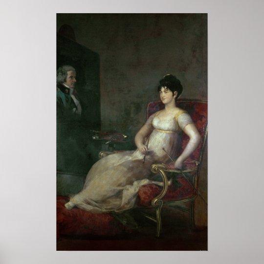 The Marquesa de Villafranca Painting her Husband Poster