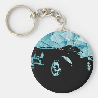 The Marqui 11 Classic Car Collection Basic Round Button Keychain