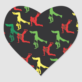 The Marqui 11 Hip Hop Collection Heart Sticker