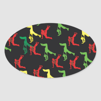 The Marqui 11 Hip Hop Collection Oval Sticker