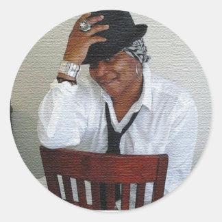 The Marqui 11 Ms Delanda Ewing Collection Classic Round Sticker