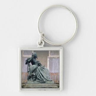 The Marquise de Sevigne (1626-1696) 1857-59 (bronz Silver-Colored Square Keychain
