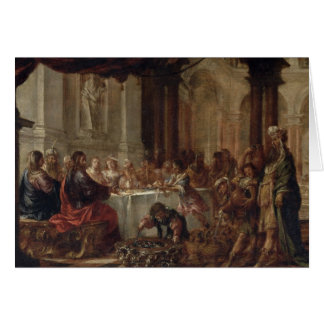 The Marriage at Cana, 1660 Greeting Card