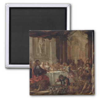 The Marriage at Cana, 1660 2 Inch Square Magnet