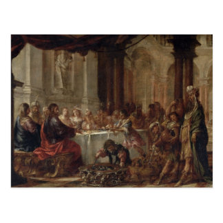 The Marriage at Cana, 1660 Postcard