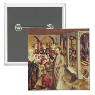 The Marriage at Cana, c.1500 2 Inch Square Button