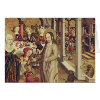 The Marriage at Cana, c.1500 Greeting Card