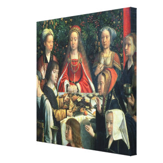 The Marriage at Cana, detail of the bride and surr Canvas Print