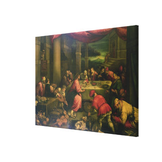 The Marriage at Cana (oil on canvas) Gallery Wrapped Canvas