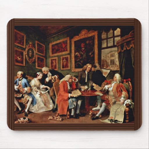 The Marriage Contract ' By Hogarth William Mouse Pad