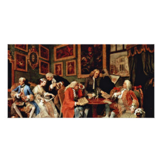 The Marriage Contract ' By Hogarth William Photo Cards