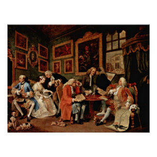 The Marriage Contract by William Hogarth Poster