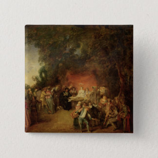 The Marriage Contract, c.1712-13 Pinback Button