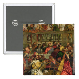 The Marriage Feast at Cana 2 Inch Square Button