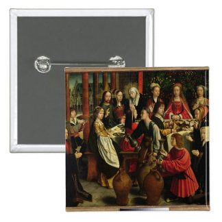 The Marriage Feast at Cana, c.1500-03 2 Inch Square Button