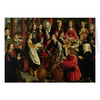 The Marriage Feast at Cana, c.1500-03 Greeting Card