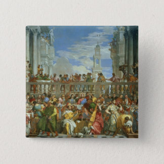 The Marriage Feast at Cana, c.1562 (oil on canvas) Button