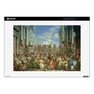 """The Marriage Feast at Cana, c.1562 (oil on canvas) Decals For 15"""" Laptops"""
