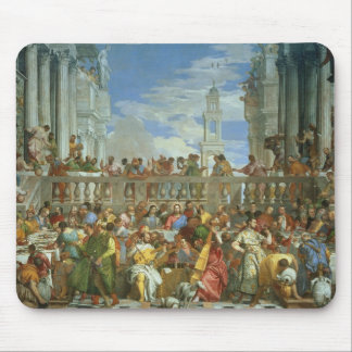 The Marriage Feast at Cana, c.1562 (oil on canvas) Mouse Pad