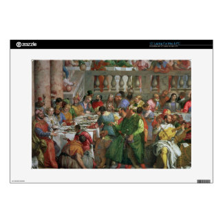 """The Marriage Feast at Cana, detail of banqueting t 15"""" Laptop Skin"""
