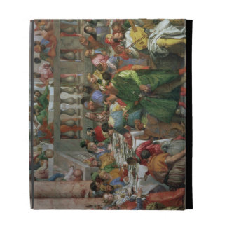 The Marriage Feast at Cana, detail of banqueting t iPad Folio Cover