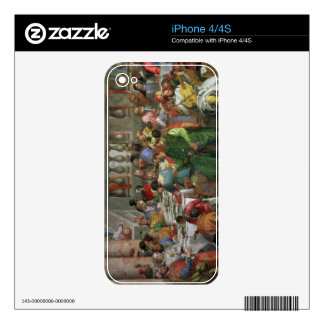 The Marriage Feast at Cana, detail of banqueting t Decals For iPhone 4