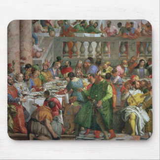 The Marriage Feast at Cana, detail of banqueting t Mouse Pad