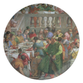 The Marriage Feast at Cana, detail of banqueting t Party Plates