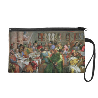 The Marriage Feast at Cana, detail of banqueting t Wristlet Purse
