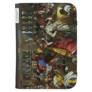 The Marriage Feast at Cana, detail of musicians an Kindle 3 Cases