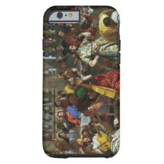 The Marriage Feast at Cana, detail of musicians an Tough iPhone 6 Case