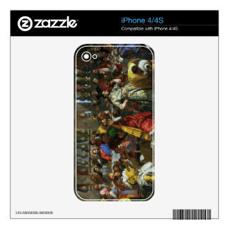 The Marriage Feast at Cana, detail of musicians an iPhone 4 Decal
