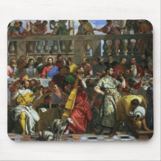 The Marriage Feast at Cana, detail of musicians an Mouse Pad
