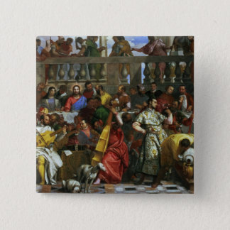 The Marriage Feast at Cana, detail of musicians an Pinback Button