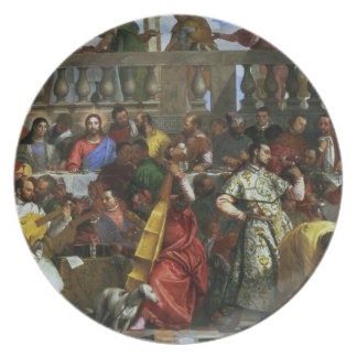 The Marriage Feast at Cana, detail of musicians an Dinner Plate