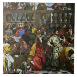 The Marriage Feast at Cana, detail of musicians an Tile