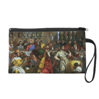 The Marriage Feast at Cana, detail of musicians an Wristlet Purse