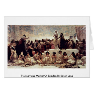 The Marriage Market Of Babylon By Edwin Long Greeting Card